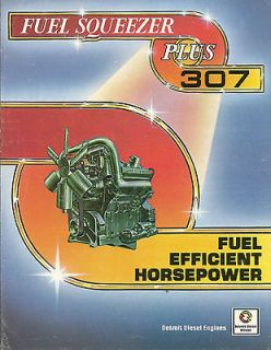 DETROIT DIESEL ALLISON 307 Engine Brochure FUEL SQUEEZER Plus +