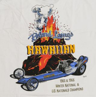Drag Club T Shirts, Roland Leongs Hawaiian Front Engine Dragster