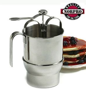 Norpro 4 CUP STAINLESS STEEL PANCAKE DISPENSER NEW 3171