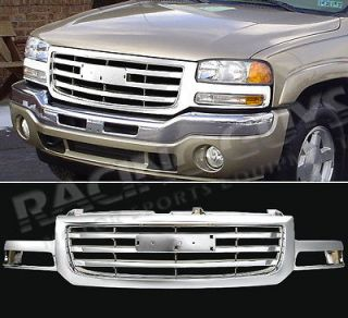 06 07 GMC SIERRA NEW EURO CHROME STYLE FRONT BUMPER GRILLE GRILL 1500
