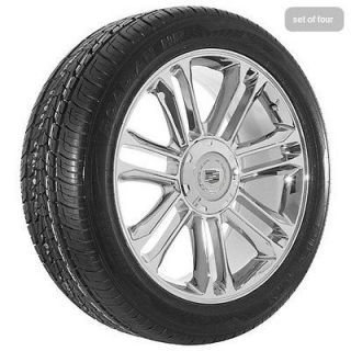 Escalade platinum edition chrome wheels rims and tires package