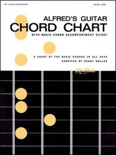 guitar chords chart in Instruction Books, CDs & Video
