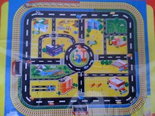 Playmat Map, wipe clean, 92 x 76cm, for toy cars, kids toy, play mat