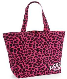 NEW Aeropostale Aero Womens Pink Animal Leopard Spot Print Large