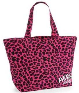 NEW Aeropostale Aero Womens Pink Animal Leopard Spot Print Large