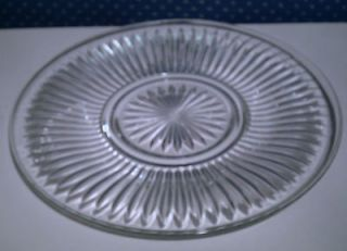 KIG Indonesia Clear Glass Fluted 10 Dinner Plate