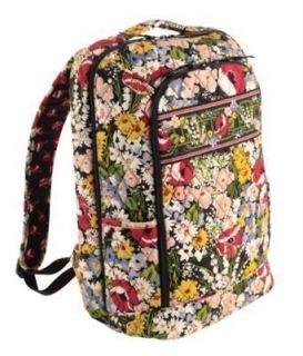 vera bradley poppy fields laptop backpack in Clothing, Shoes