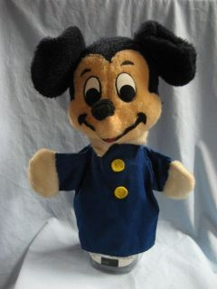 Vintage Mickey Mouse Hand Puppet Stuffed Plush 13 #P103