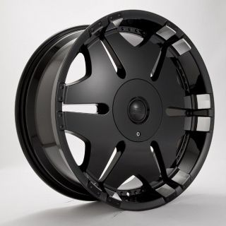 22 PLAYER 902 BLACK WHEELS Rims+Tires PACKAGE 5X114.3 5X120.65