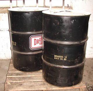 Drydene Superior 55 Gallon Oil Drum Empty Barrel Lot 2
