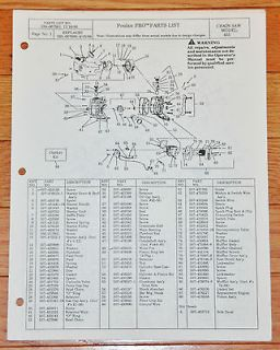 Vtg. Poulan PRO 455 Chain Saw Parts List Manual Pioneer Partner P45