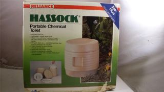 RELIANCE HASSOCK PORTABLE CHEMICAL TOILET