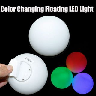 Pool Tub Apple Ball RGB Color Change water Floating Float LED Light