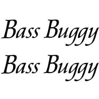 TRACKER MARINE 158041 BLACK BASS BUGGY 16 1/2 INCH BOAT DECAL (PAIR)