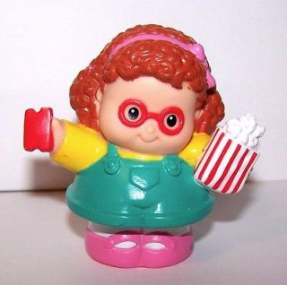 Fisher Price Little People Carnival Maggie With Popcorn & Ticket
