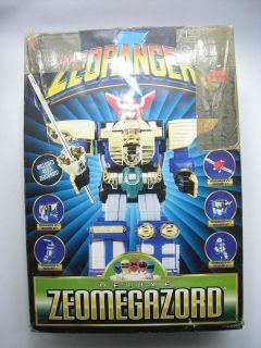 Power Ranger Zeo Rangers DX Zeo Megazord Deluxe Set Figure Bandai USED