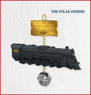 2010 Hallmark Ornament POLAR EXPRESS Train & Bell ROUND TRIP TICKET