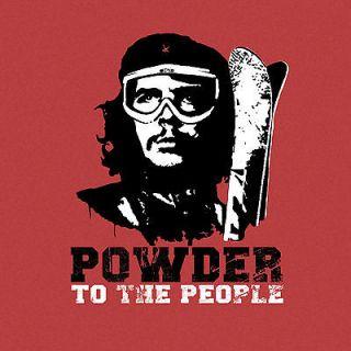 Powder to the People Che Guevara Ski Funny Mens T Shirt S M L XL 2XL