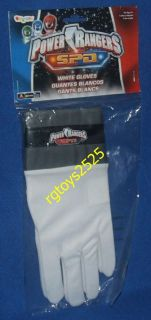 Power Rangers SPD White Ranger Gloves New for Costume Red Blue or Pink