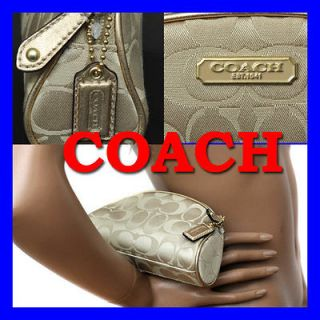 COACH Ladies LIMITED EDITION Gold COSMETICS BAG