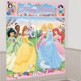 DISNEY PRINCESS SCENE SETTER Birthday Party Wall Decoration Castle