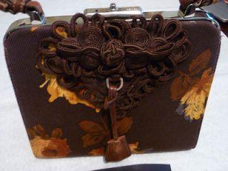 prada brown leather handbag in Handbags & Purses
