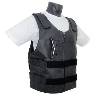 Newly listed Mens Bullet Proof Replica Premium Leather Motorcycle VEST