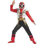 Power Rangers Samurai Super Samurai Red Ranger Muscle Costume Sz 6 S