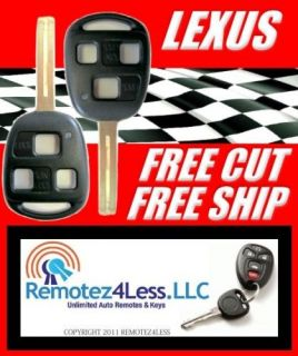 LEXUS SHELLS KEY REMOTE CASE SHELL + FREE CUT & SHIP (Fits Lexus