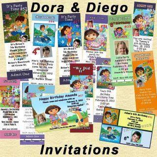 Dora & Diego Birthday Invitations 20 each w/Envelopes Personalized