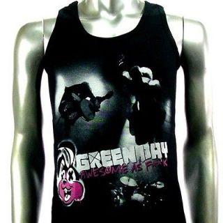 Sz M Green Day Billie Joe T Shirt Tank Top Vest Men Rock V24