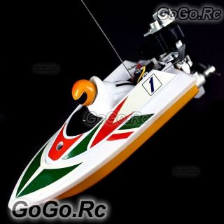 Radio Remote Control RC Mini Racing Speed Boat   White (HQ953 WH)