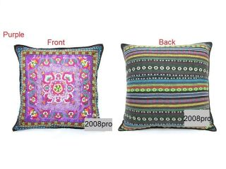 DECORATIVE tribal cross AZTEC embroidered Cotton Satin cushion/pillow