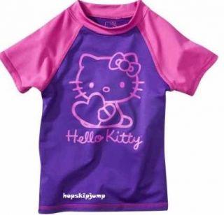 HELLO KITTY RASH GUARD SWIM TOP SWIMWEAR Girls 4/5 6/6X 7/8 ~ NWT