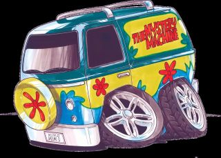 Scooby Doo Mystery Machine Vintage Decal Sticker Koolart A5 size
