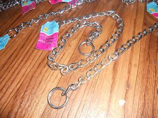 5MM x 28 CHOKE CHAIN DOG COLLARS GREAT FOR TRAINING, LOW PRICE