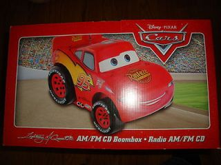 Disney Pixar Cars Lightning McQueen Radio AM FM CD Boombox