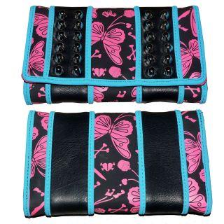 Abbey Dawn Avril Lavigne Flutterby Butterfly Pink Blue Iron Fist Purse