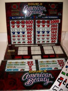 IGT Double American Beauty Glass & Reel Strips Game Kit