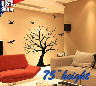 Wall Decor Art Removable Mural Vinyl Decal Sticker Large Tree With