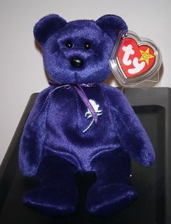 Ty PRINCESS the (Diana) Bear 1997 Beanie Baby ~ Creased Tag ~ RETIRED