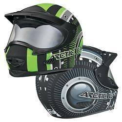 ARCTIC CAT SNOWMOBILE HELMET FULL FACE TXI FLAT GREEN/BLACK