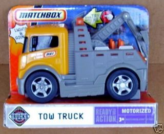 Matchbox Motorized Wheel Lift Tow Truck Wrecker Orange Self loader