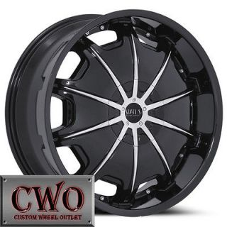26 Black Status Opus Wheels Rims 6x135/6x139.7 6 Lug Navigator Tahoe
