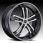 Phase 5 BLACK Wheel & Tire Package RIMS 5 LUG DODGE CADILLAC AUDI