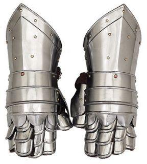 Steel Armor Hand Gloves Pair Knights Gladiator Roman