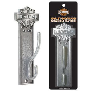 HARLEY DAVIDSON BAR & SHIELD LOGO PEWTER FINISH COAT HOOK