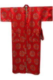 New Royle Blue Chinese Mens Silk Satin Kimono style Robe/Gown M L XL
