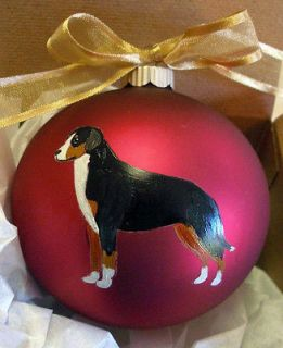 Greater Swiss Mountain Dog Christmas Ornament Hand Painted w/name