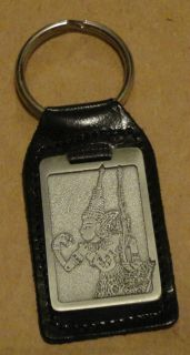 NEW, ROYAL SELANGOR PEWTER AND LEATHER KEY RING/FOB,MALAYSIA, RAMAYANA